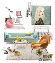 """""""Untitled #54"""" by annie-qiu on Polyvore featuring interior, interiors, interior design, home, home decor, interior decorating, Lands' End, Joybird, Umbra and John-Richard"""