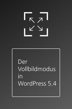Der Vollbildmodus in WordPress Calm, Question Mark, Interesting Facts, Tips, Pictures