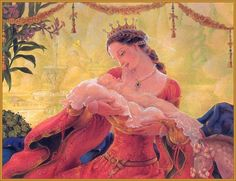"A daughter, by Kinuko Y. Craft -- Illustration from ""Sleeping Beauty"", 2001"