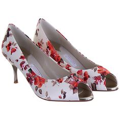 Buy Rainbow Couture Cleo Floral Print Satin Peep Toe Shoes, Multi Online at johnlewis.com £66.75 heal may be too high for me, but lovely shoes