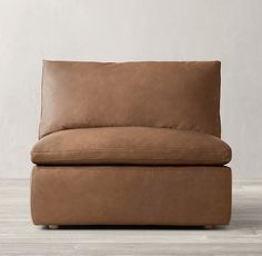 Cloud Track Arm Modular Leather Armless Chair
