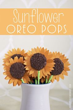 Sunflower Oreo Pops | Sunflowers cut with the Silhouette « Marvelous Mommy