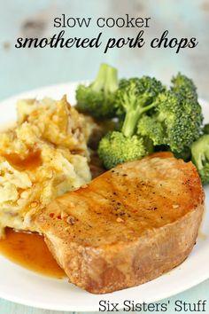 Slow Cooker San Francisco Pork Chops | Six Sisters' Stuff