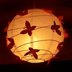 Girl's Room Butterfly Paper Lamp Shade.