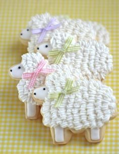 Lamb cookies for first communion party