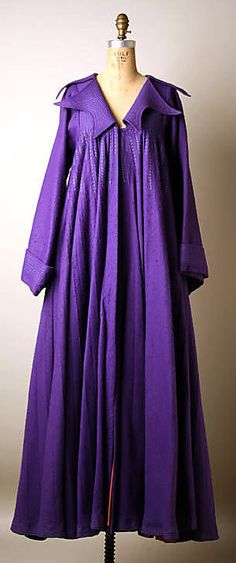 Evening Coat, Zandra Rhodes (British, born 1940), London: 1968-69, British, woo/synthetic.