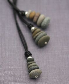 Zen stones pendant necklace