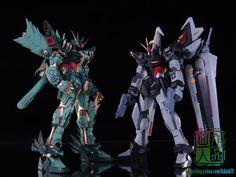 GUNDAM GUY: 1/100 Strike Noir Gundam 'BLUE DRAGON' - Custom Build by Kdash
