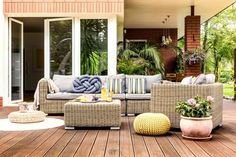 Wondering how to design a backyard on a budget? We've got you covered! From homemade fire pits to decorative garden trellises, these awesome DIY backyard ideas will give your outdoor living space the ultimate makeover! French Doors Patio, Patio Doors, French Patio, Backyard Retreat, Backyard Patio, Backyard Ideas, Patio Ideas, Cheap Backyard Makeover Ideas, Table Cafe