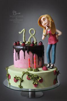 Tarta de cumpleaños: Por fin 18!