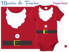 Body ou Camiseta Infantil Papai Noel