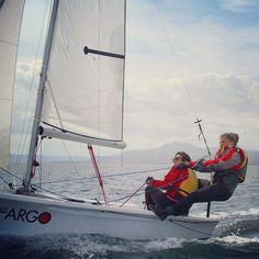 http://instagram.com/p/zLJw7JgWyL/ winter sailing #girlsailing #sail #wind #deriva