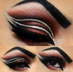 Amazing makeup Beautiful Eye Makeup, Love Makeup, Makeup Art, Beauty Makeup, Hair Makeup, Amazing Makeup, Crazy Makeup, Stunning Eyes, Beauty Tips
