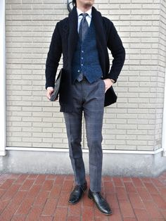 Office Fashion, Urban Fashion, Man's Overcoat, Man Office, Grey Trousers, Gents Fashion, Men's Coats, Wool Pants, Smart Casual
