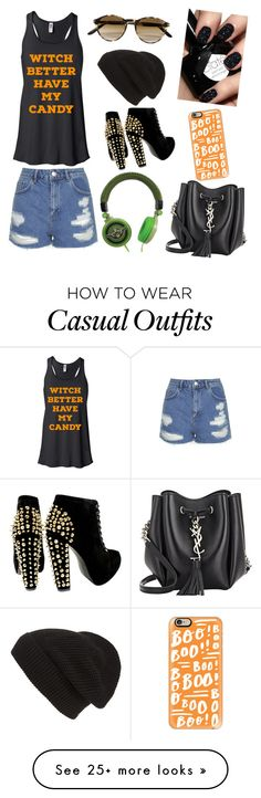 """Casual"" by awesome-pants-99 on Polyvore featuring Topshop, Persol, Yves Saint Laurent, Casetify, Phase 3 and casualfriday"