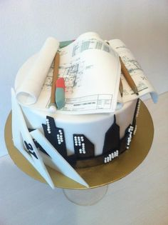 Cake for architect by Janka