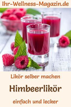 Himbeerlikör selber machen - einfaches Rezept Make raspberry liqueur yourself: Simple recipe for a homemade liqueur made from just 6 ingredients. It is quickly prepared and tastes fruity and sweet in Eat Tumblr, Drink Tumblr, Budget Freezer Meals, Easy Meals, Cocktail Drinks, Cocktail Recipes, Cocktail Tequila, Signature Cocktail, Raspberry Liqueur
