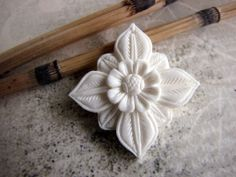 Abadi Carved Bone Balinese Architectural Flower by Indounik, $9.00