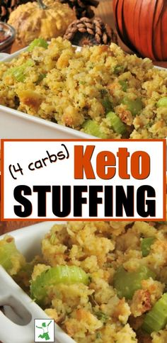This delicious low carb stuffing recipe is grain free and suitable for those on the Keto diet or any type of gut healing protocol such as GAPS, AIP or SCD. Low Carb Chicken Recipes, Healthy Low Carb Recipes, Low Carb Keto, Keto Recipes, Keto Foods, Diabetic Recipes, Lunch Recipes, Bread Recipes, Easy Recipes