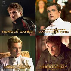 Peeta though out the hunger games series