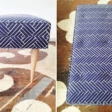 Image result for geometric upholstered bench