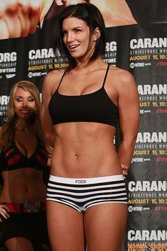 Gina Carano my fitness motivation!! This bitch dates Superman inn real life aka Henry Cavill