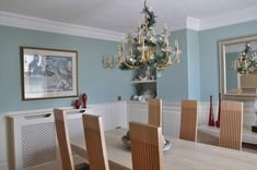 dining room ideas mdf wall panels by wall panelling uk Blue Dinning Room, Duck Egg Blue Living Room, Dining Room Colors, Dining Room Walls, Duck Egg Blue Kitchen Walls, Dado Rail Living Room, Living Room Paint, Tiffany Blue Walls, Blue Bedroom Walls