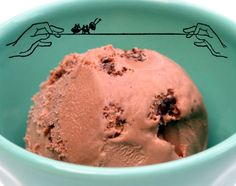 """Chocolate-covered ant ice cream - inspired by """"A Wrinkle in Time."""""""
