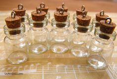 30 Mini Glass Vial Charms is going up for auction at  9am Tue, Apr 30 with a starting bid of $1.