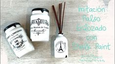 Cono Hacer Imitacíon Enlozado Super Facil!!!! - YouTube Chalk Paint, Diffuser, Decoupage, Diy And Crafts, Decorative Bottles, Painting, Country, Youtube, Vintage