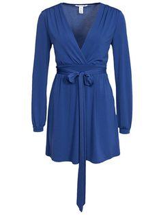 Tie Wrap Front Dress - Nly Trend - Blå - Festklänningar - Kläder - Kvinna - Nelly.com