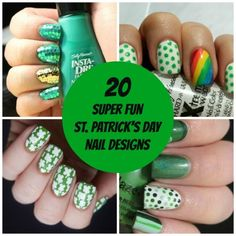 20 Super Fun St. Patrick's Day Nail Designs - Looking for a fun way to sport a little green on St. Patrick's Day? No worries, I've got you covered. I've scoured the internet and found 20 festive nail designs worth wearing.