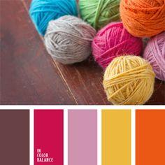 amarillo y anaranjado, combinación de colores para decorar interiores, de zanahoria, elección del color, rosado y anaranjado, rosado y carmesí, selección de colores para el diseño de interiores, tonos rosados, tonos vivos de colores rosado y naranja.
