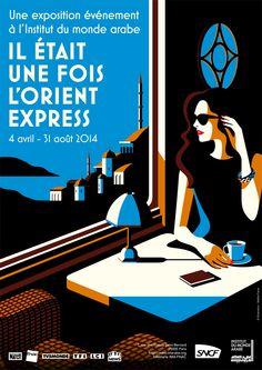 La Belle Illustration: Malika Favre, affiche pour l'exposition Il était u...