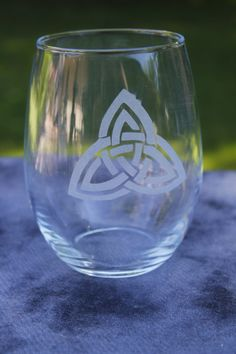 Handfasting Triquatra Chalice Goblet Frosted by DeeLuxDesigns, $8.95
