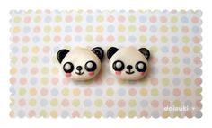 Cute hand-carved panda earrings!  $12.95