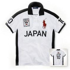 Lauren Lauren Big Pony JAPAN Signature Symbol White Sport Polo http://www.