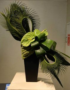 New Garden Club Journal: Gorgeous designs from the Federated Clubs of Massachusetts Flower Show Orchid Flower Arrangements, Tropical Floral Arrangements, Creative Flower Arrangements, Church Flower Arrangements, Flax Flowers, Simple Flowers, Exotic Flowers, Beautiful Flowers, Yellow Flowers