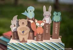 My little woodland friends love books and can be printed as a personalized bookmark. http://liagriffith.com/woodland-friends-bookmarks-for-summer-reading/