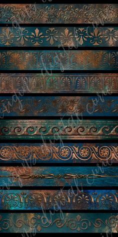 Patina Borders Clipart Graphics Patina Borders ClipartThis image pack contains 10 digital images of shimmering metal copper border by Origins Digital Curio Art Plastique, Color Pallets, Colour Schemes, Color Inspiration, Vintage Diy, Painted Furniture, Paint Colors, Copper, Clip Art