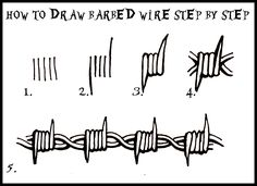 barbed wire drawing - Google Search