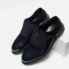Image 7 of LEATHER BLUCHERS WITH STRETCH DETAIL from Zara