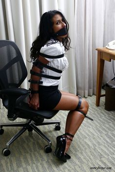 Photos of sexy women tied to stools phrase simply