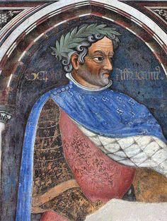 Gentile da Fabriano e bottega -Scipione l'Africano - Sala dei Giganti - ciclo di affreschi frammentario - 1411-1412 - Palazzo Trinci a Foligno
