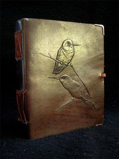 $27.49 (6x5) Handmade Leather Journal Diary -  Pages of Cartridge Paper - Colibri Birds Design - Freepost UK by DiaryShop on Etsy https://www.etsy.com/listing/241993990/handmade-leather-journal-diary-pages-of