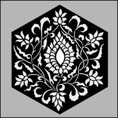 Hexagonal No 1 stencil