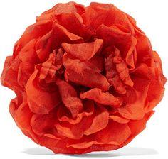 Gucci - Floral Silk Brooch - Bright orange