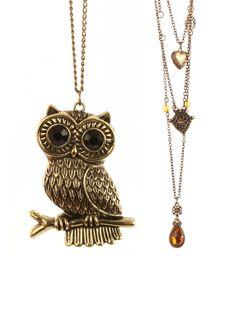 STYONAL / CHARM NECKLACE & OWL