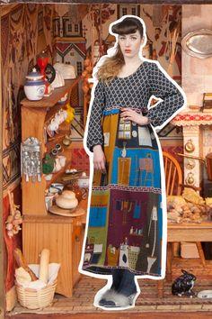 Kitchen: Blueprint pinafore 'Everything But The Kitchen Sink' - Lu Flux Autumn Winter 2012