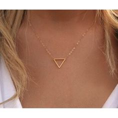 NEW dainty necklace Gold triangle necklacevery dainty alloy metal new Jewelry Necklaces